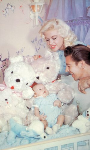 Jayne Mansfield and Mickey Hargitay with their son Miklos.
