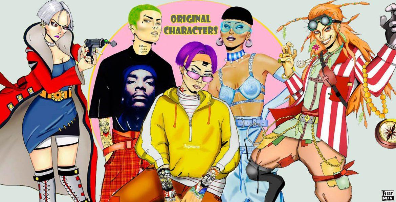 original characters banner